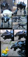 RoTF Ravage with Gen1 head by Poo-Fly