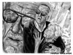Stan Lee and his wife by Hard Galvan by hardgalvan