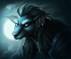 Worgen Lady by TheTundraGhost