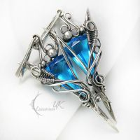 EXTURIONTH - silver and blue quartz by LUNARIEEN