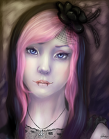 Gothic Self-Portrait by Psunna