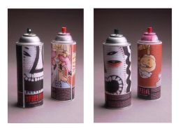 spray paint cans by fancyclaps