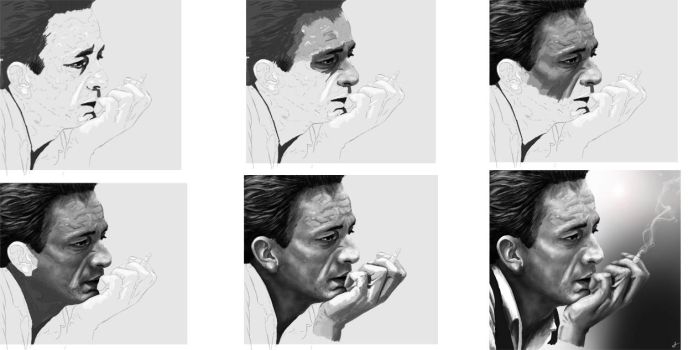 Johnny Cash- WIPS by DookieAdz
