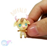 Polymer Clay Chibi Buffalo by kkkiiikkk