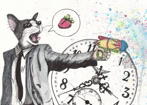 One Cat, One Clock, One Fruit by eetYourFoot