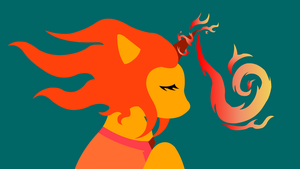 Flame Princess Pony by Quiet-Lamp