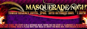 Masquerade Night Ticket Design by Maxor-GWD