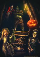Halloween Heroes of Might and Magic by SchastnySergey