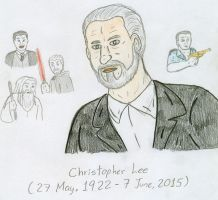 Tribute - Christopher Lee by Jose-Ramiro
