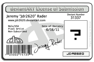 My deviantArt License by Jdr2620