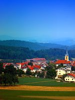 Village skyline on a summer afternoon by patrickjobst