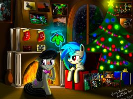 Vinyl Scratch and Octavia Christmas by SteiN-VS