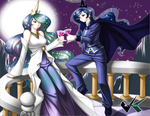 Commission: Celestia and Luna by jadenkaiba
