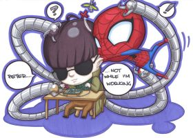 wee octopus and spider by prisonsuit-rabbitman