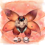 Volcarona and babbies by Joltik92