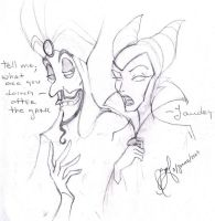 Jafar and Maleficent by Aznara