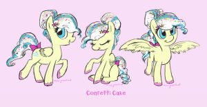 Confetti Cake by JoieArt