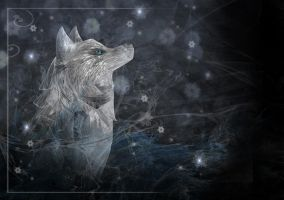 Winter Wolf - Wallpaper by rockgem