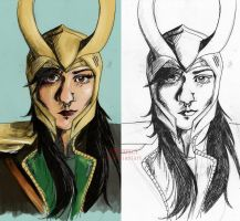 Self Portrait Loki Style. by BowieKelly