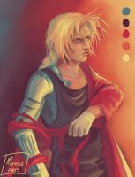 Color palette Edward Elric by MonsieArts