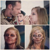 Zombie Make-Up in 3 Steps by KeatonKohl