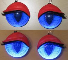 Glowing 3D Feminine Eyes by Monoyasha