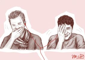 CrissColfer during livechat by Jacarandaart