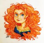 Merida with pencils by Antych