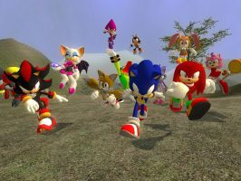 Sonic and friends by dirtpeanut
