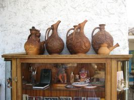 Old cupboard and pitchers by Redilion