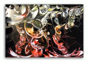 Spray painting Abstract - Let's swing ! by Airgone