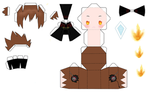 Choice Tsuna Papercraft by StardustxReflections