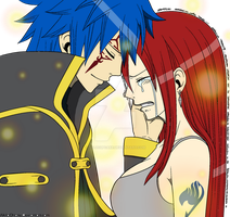 Erza and Jellal by lolzcupcake