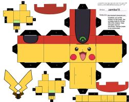 Pikachu Ash's Clothes 1 Cubee by zamiba15
