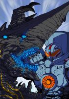 Knifehead vs Gypsy Danger colors by adivider