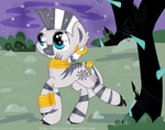 filly zecora on a walk by XxsilvixX