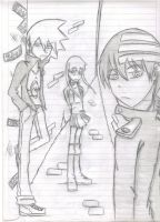 Soul eater in the school XDD by idolnya