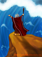 Parting of the Red Sea by yesi-chan