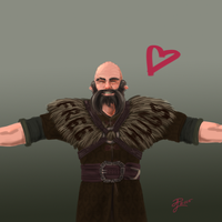 Hobbit Valentines ~ Dwalin by Contraltissimo