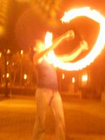 Valencia Pheonix with fire-poi by MidnightLaughter333