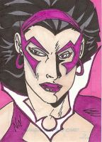 Star Sapphire Sketch Card by nathanobrien