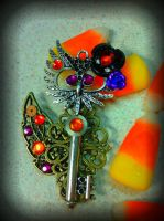 Trick or Treat Halloween Fantasy Key by ArtByStarlaMoore