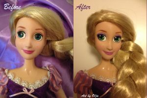 Rapunzel Singing Doll repaint by mistique-girl-olja