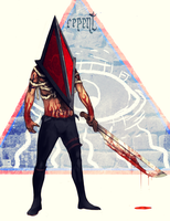 Pyramid Head - commission by JoelAmatGuell