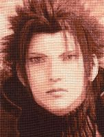 Zack Fair - Cross Stitch by shingorengeki
