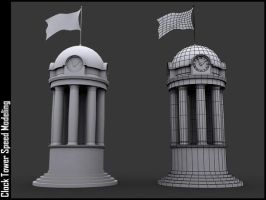 Speed Modeling - Clock Tower by andrei313