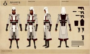 Assassin's Creed Steam Punk (Model Sheet) by placitte2012