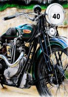 BSA BLUE STAR by WildGoska
