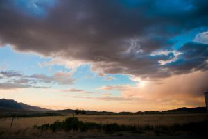 Stormy Sunset Stock by little-spacey