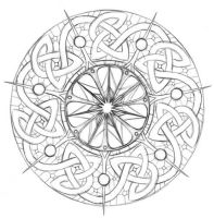 Tarot Wheel of Fortune Sketch by puimun